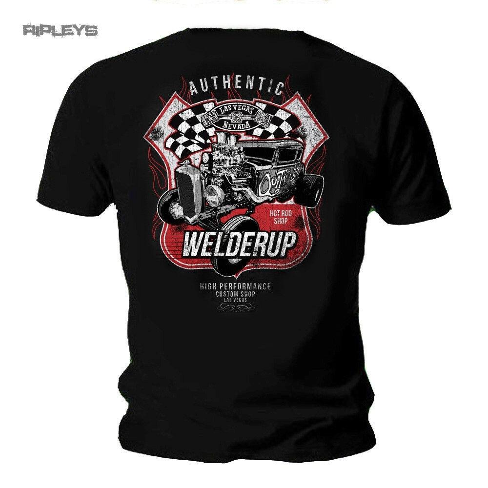 T Shirt in schwarz Auto V8 Hot Rod-/&`50 Stylemotiv Modell Genuine Junkyard