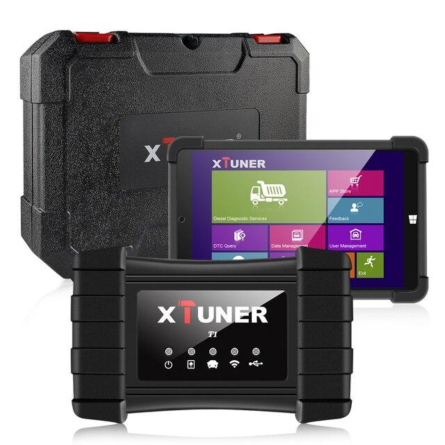XTUNER Escáner de diagnóstico para automóvil, scanner t1 HD para camiones pesados OBD2, herramienta de autodiagnóstico de Airbag ABS DPF EGR, reinicio de OBD para camión