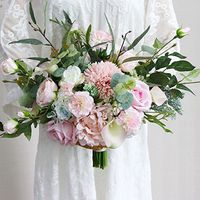 Bridal Bouquet rustic wedding flower Boho Bouquet Hydrangea rose Artificial Bouquet Wedding bouquet Wedding accessories