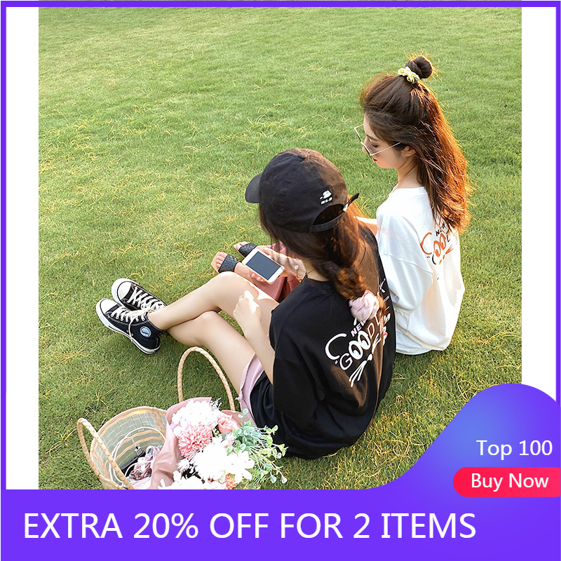 MISHOW 2020 Summer New T-Shirt Women Casual Solid Printed Short Sleeve Long Tee Shirt MX20B3564