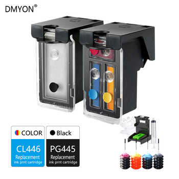 DMYON 445 446 XL Refillable Ink Cartridges MG2540 for Canon PG445 CL446 Pixma MG2440 MG2940 MG2545S MX494 Printer Ink Cartridge - DISCOUNT ITEM  16% OFF All Category