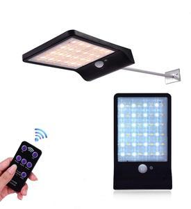 Solarna ścienna lampa zewnętrzna zdalne sterowanie lampy z czujnikiem ruchu z mocowaniem słup koraliki do lampy Decor oświetlenie bezpieczeństwa na podwórko