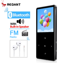 REDANT מיני MP3 עם Bluetooth hifi lossless מיני נגן מוסיקה עם fm רדיו רמקול אוזניות ספורט MP 3 נייד מתכת ווקמן
