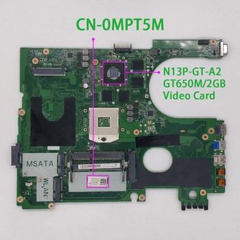for Dell 17R 7720 CN-0MPT5M 0MPT5M MPT5M DA0R09MB6H3 HM77 3D Version GT650M/2GB GPU Laptop Motherboard Mainboard Tested цена 2017