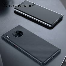 TRENDEX Carbon Fiber Case For Huawei Mate 30 20 P30 Pro 100% Real Genuine Carbon Fiber Military Shockproof Ultra Slim Case Cover