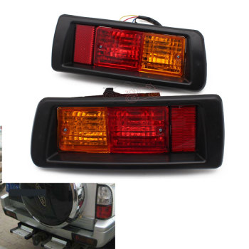цена на Car Rear Bumper Fog Light Mark Light for Toyota Land Cruiser Prado (90) 1997 1998 1999 2000 2001 2002 Red LED Tail Lights