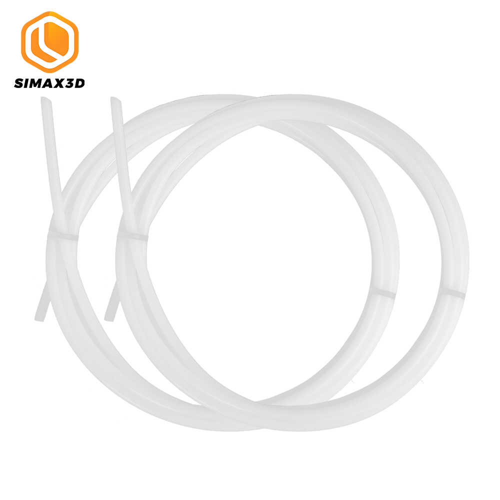 SIMAX3D 1M PTFE tüp Teflonto boru ID 2 OD 4mm j-kafa hotend RepRap ekstruder boğaz için ender 3 Pro kiti PLA filament 1.75