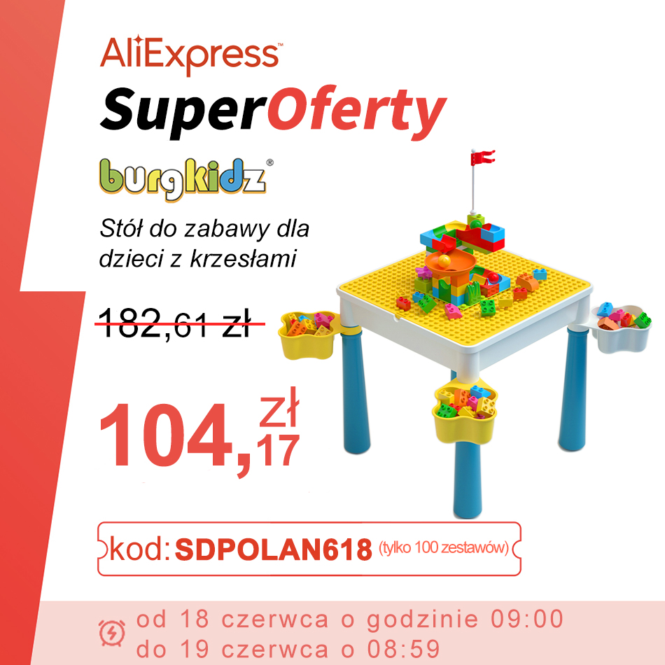 BURGKIDZ Children's Activity Table with Large Size Building Blocks Marble Race Run Blocks Toys For Kids Christmas Gift New Year