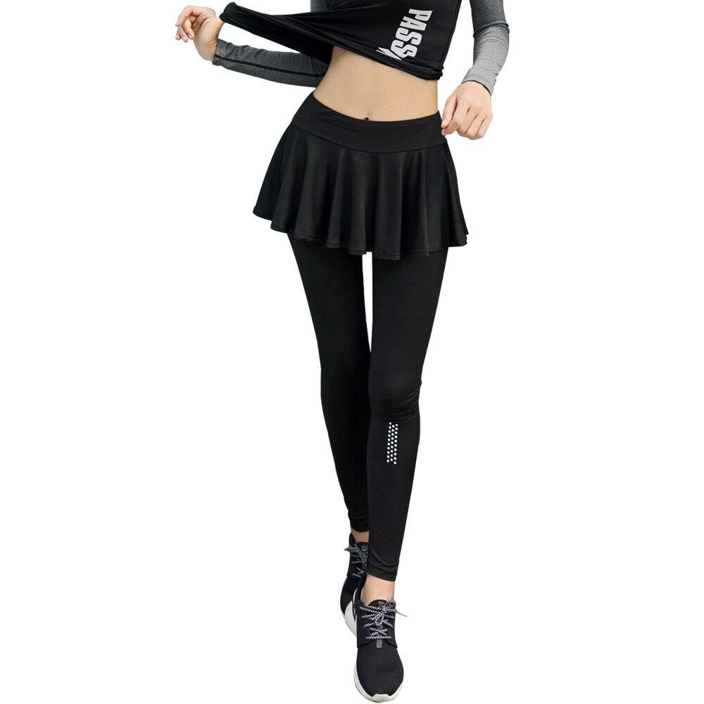 2018 Quick-Dry Korean-style Yoga Pants Women's Running Autumn Buttock Lifting Fitness Trousers Skirt Sports Leggings