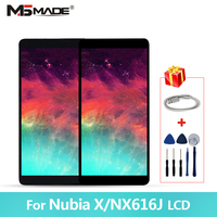 6.26 Original For ZTE Nubia X Display NubiaX NX616J LCD Display Screen Touch Panel Digitizer For Nubia X Full Display 2280*1080