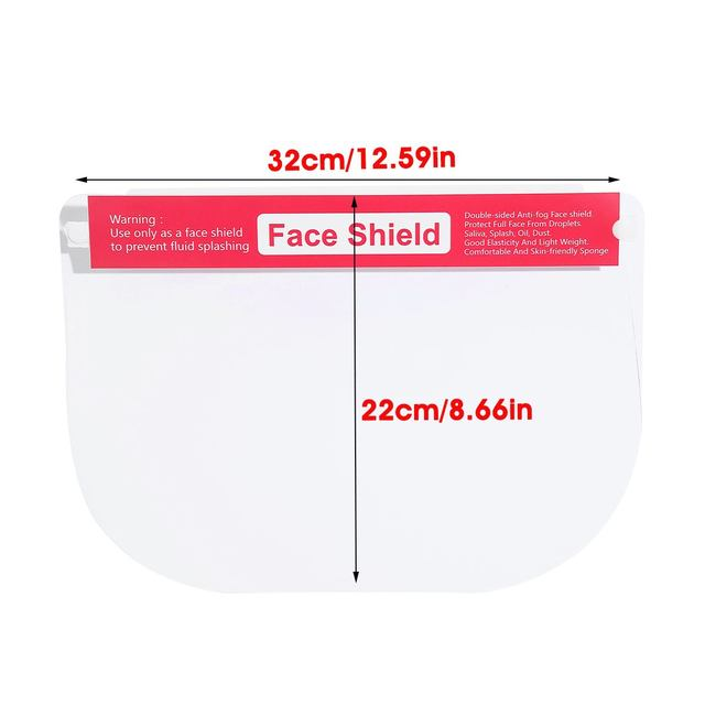 5/10/16/20x Safety Full Face Mask Helmet Clear Face Shield Cover Transparent Lens Film Protector Anti-fog anti-droplets 5