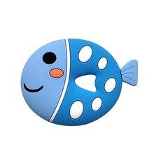 Silicone Teether Newest Cartoon BPA Free Fish Animals Shape 1pc Food Grade Teething DIY Accessories Soft Baby Teethers