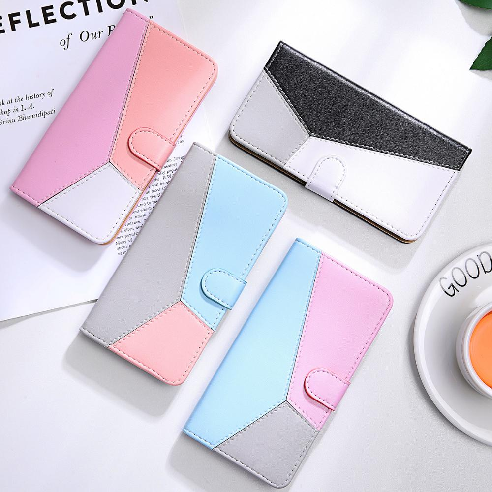Splicing Flip Leather Wallet Case on For Fundas <font><b>Nokia</b></font> 3.1 Plus Case For Coque <font><b>Nokia</b></font> <font><b>4.2</b></font> 3.2 2.2 3.1 Plus <font><b>Phone</b></font> Case Cover Shell image