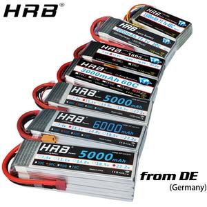 Image 1 - HRB 2S 3S 4S 5S 6S يبو بطارية 1300 1500mah 2200mah 2700mah 5000mah 3300 6000mah XT60 T EC5 EC2 7.4V 11.1V 14.8V 22.2V RC أجزاء