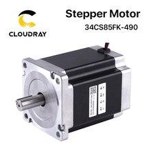 Motor paso a paso Nema 34, 112m, 2 fases, 8.5N.m 4.9A, Motor paso a paso de 4 Plomo, alto Torque (34CS85FK-490) para fresadora de grabado CNC