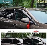 Tonlinker 4 PCS DIY Car styling New Acrylic Super toughness special rain shield cover fit for CADILAC SRX part accessories