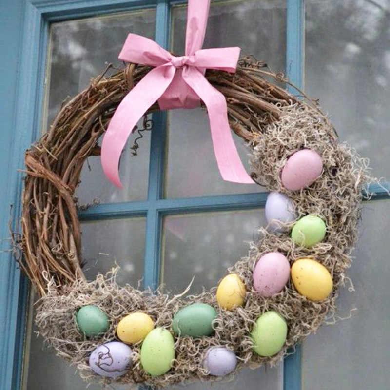 10-30cm páscoa decoração de casa natural rattan grinalda casamento grinalda artesanato feliz páscoa decoração diy artesanato primavera grinaldas de casamento