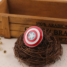 Creative Cartoon Captain America Shield Alloy Brooch enamel Needle Clothes Bag Accessories Gifts for Friends creative personality gestures alloy brooch enamel pin mini badge bag clothes jewelry gifts to friends fxm