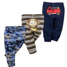 3PCS/LOT Unisex Cotton Spring Autumn Baby Pants Cartoon Baby Girls Boys Trousers Newborn Bebe PP Trousers Newborn Baby Clothing