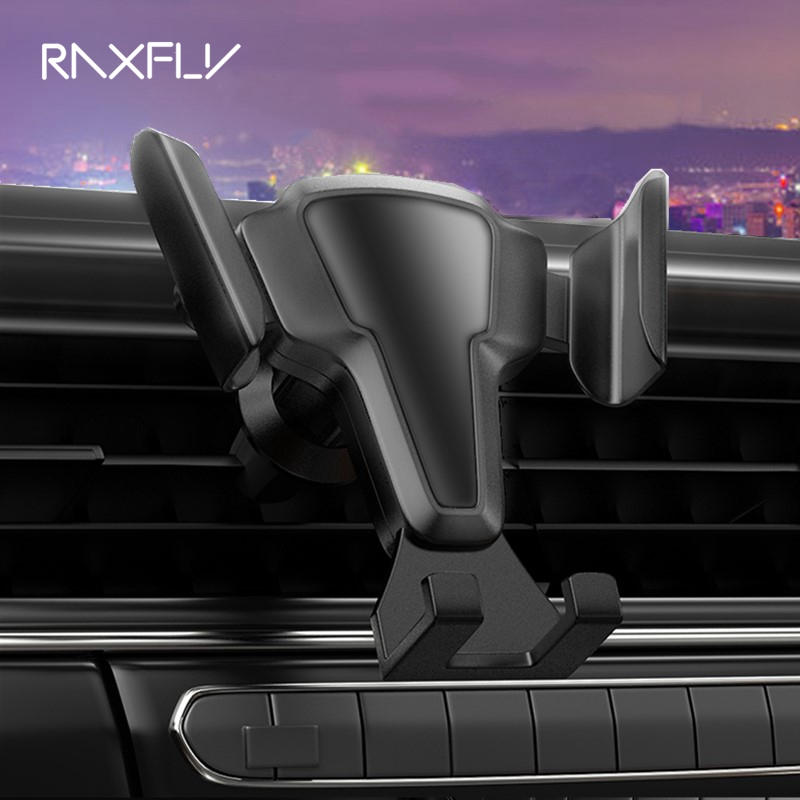 RAXFLY Car Phone Holder For Smartphone Stand Air Vent Mount 360 Rotate Auto Lock Support Telephone Voiture Soporte Movil Coche