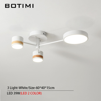 BOTIMI Home Decor LED Ceiling Lights For Living Room Round Metal Ceiling Lamps Surface Mounted Dining Lustres Bedroom luminaires 13