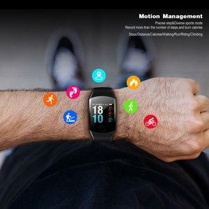 Image 3 - 2019 neue Q11 Super Lange Standby Smart Uhr Blutdruck Herz Rate Monitor Fitness Armband Uhr Männer Frauen Smartwatch PK q9