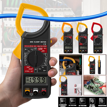 Digital Current Clamp Meter Buzzer Data Hold Non-contact Multimeter Voltmeter Ohmmeter Ammeter Ohmmeter Volt AC DC
