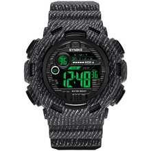 PANARS Digital Watch Men Sport Watches Electronic LED Male Wrist Watch For Men Clock Denim Black Military Army Wristwatch цена 2017