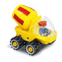 Engineering Vehicle Building Blocks Large Particle Mixer Truck Toy DIY Assembly City Construction Engineering Car   Model Bricks