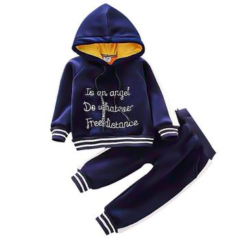 3pcs baby boys clothes sets winter fall birthday outfit toddler cloth kids sport suit for boys cotton warm hoody vest 0 6 years Winter Toddler Girl Clothes Boys Cotton Sets Girls Fleece Hoodies+Pants Sport Suit Baby Girl Christmas Outfit Children Clothing