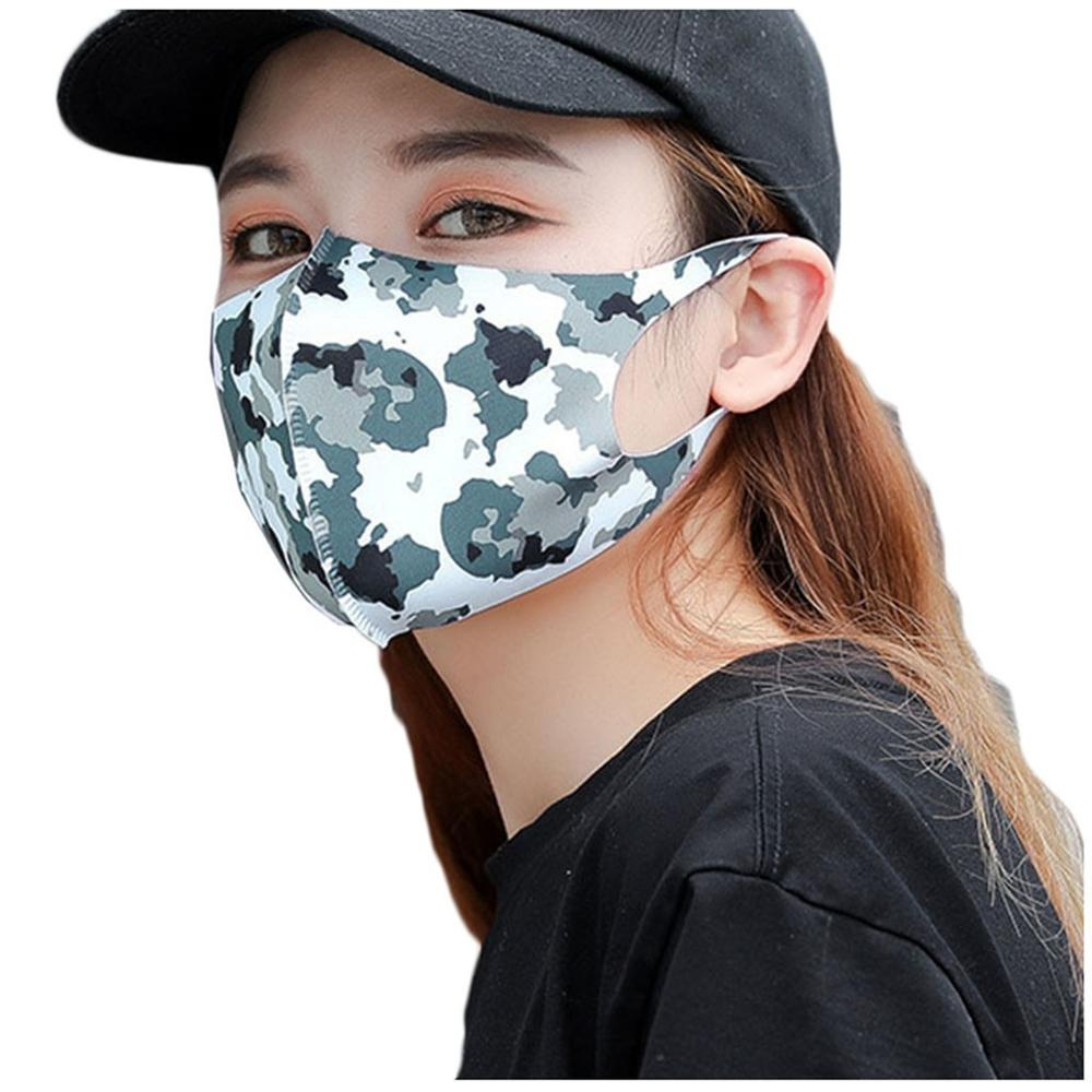 Mask New PM2.5 Outdoor Mouth Washable Reuse Printing Protection Washable Breathable Protection Mask Anti-droplet Virus,