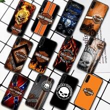 Harley-Davidson Motorcycle Phone Case For Samsung Galaxy A7 9 8 10 20 20e 21 S 30 30S 31 41 50 50S 51 70 71 91 black Funda Soft
