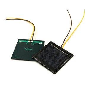 Image 3 - 5 adet/grup 2V 100mA 15cm tel uzatın GÜNEŞ PANELI güneş hücreleri epoksi polikristal silikon DIY pil güç şarj modülü