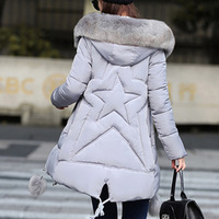 Maternity Winter Coats 2019 new Faux Fur Collar Hooded Down Parka Maternity Pregnant Thicken Warm Outwear Women Jackets & Coats