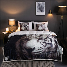 White tiger pattern Winter Thick Comfy Blanket Adults and Children Fleece Weighted Blankets for Beds Travel