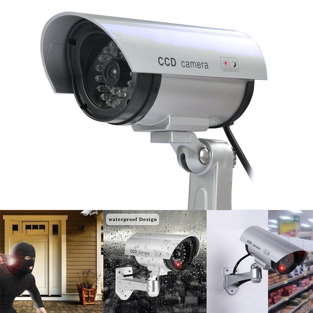 Cámara simulada de seguridad CCTV al aire libre impermeable Emulational señuelo IR wifi Red Led video falsa cámara de simulación de vigilancia