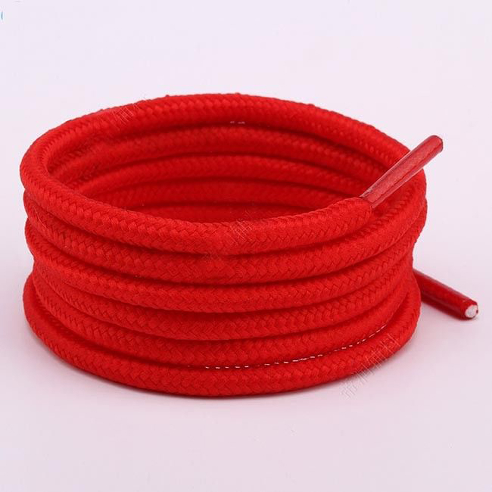 100-150cm Unisex Fashion New Shoelaces Waxed Round Cord Dress Shoe Laces Diy Colourful Cute Pink Color Elastic Shoelaces