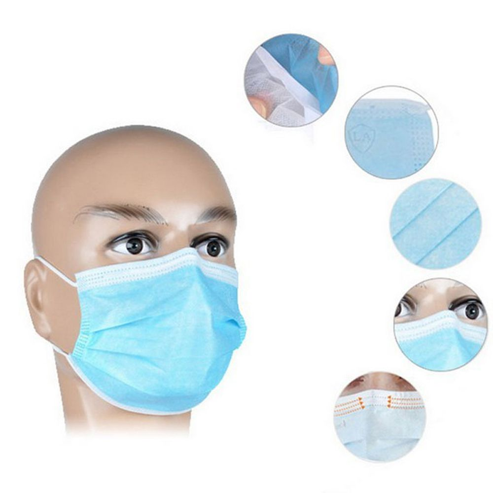 10pcs Disposable Masks To Prevent  Dust 3 Layer Fabric Expressions Using Protects Person Useful