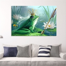 Frog Prince Cross Stud Diamond Painting Home Decoration