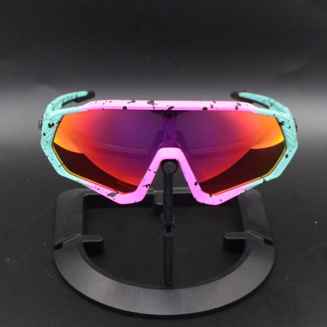 Ciclismo eyewear esportes dos homens óculos de ciclismo mountain bike ciclismo óculos mulher ciclismo óculos uv400 5 lente 4
