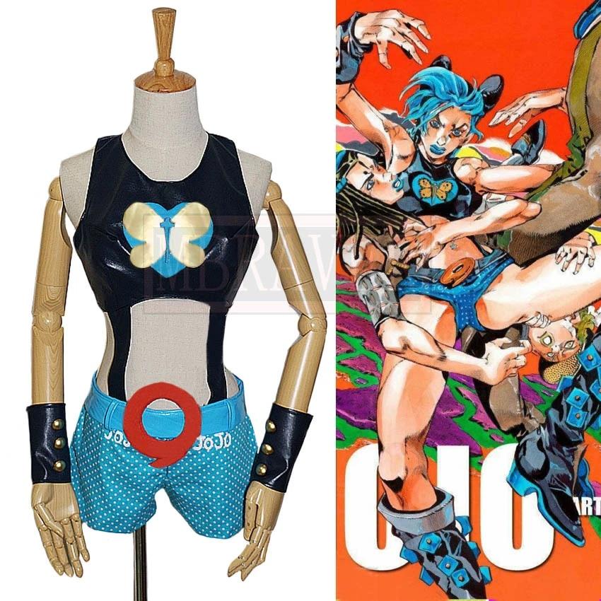 JoJos Bizarre Adventure Jolyne Cujoh Cosplay Dress  Women Girls Costume Outfits