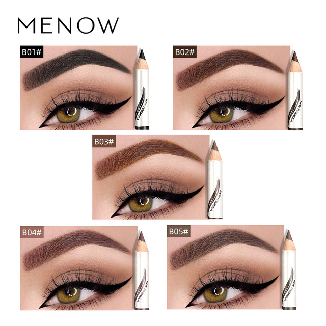 Makeup Menow Eyebrow Pencil Eyebrow Marker Waterproof Eyebrow Tattoo For Eyebrows 5 Colors Enhancer Dye Tint Pen Long Lasting 4