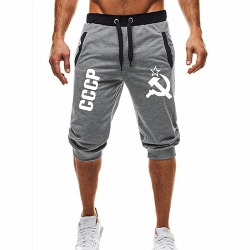 Hot ! 2020 New Hot-Selling Man's Shorts Summer Casual Fashion Shorts CCCP Print Sweatpants Fitness Short Jogger M-3XL
