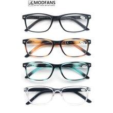Men Gradual Change Color Reading Glasses For Women Readers Eyeglass Suqare Unbreakable Plastic Frame With Sliver Rivet