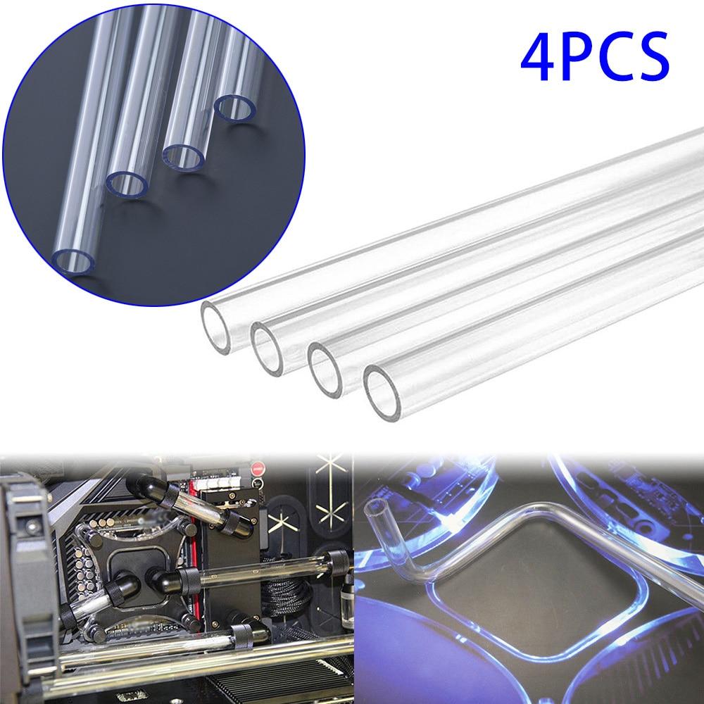 For Computer Water Cooling System 4Pcs 500mm PETG Tubing Rigid Hard Tubes 10/14mm Clear Bending Hard Tubing Hose Easy Bending