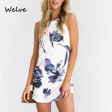 Welve 2019 dress women casual Summer temperament elegant Suitable for work or vacation