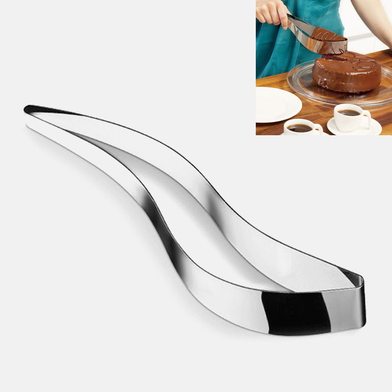 1 PC <font><b>Stainless</b></font> <font><b>Steel</b></font> Cake Slicer Chocolate Fondant Biscuit Knife Pie Pancake Divider <font><b>Cheese</b></font> Confectionery Cutter Cake <font><b>Mold</b></font> Tools image