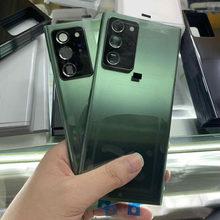 1 pçs de alta qualidade vidro traseiro para samsung galaxy note20 nota 20 ultra 5g n985 n986 volta tampa da bateria porta do painel habitação