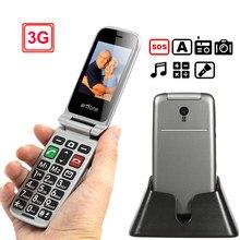3g telefone sênior artfone flip 2.4