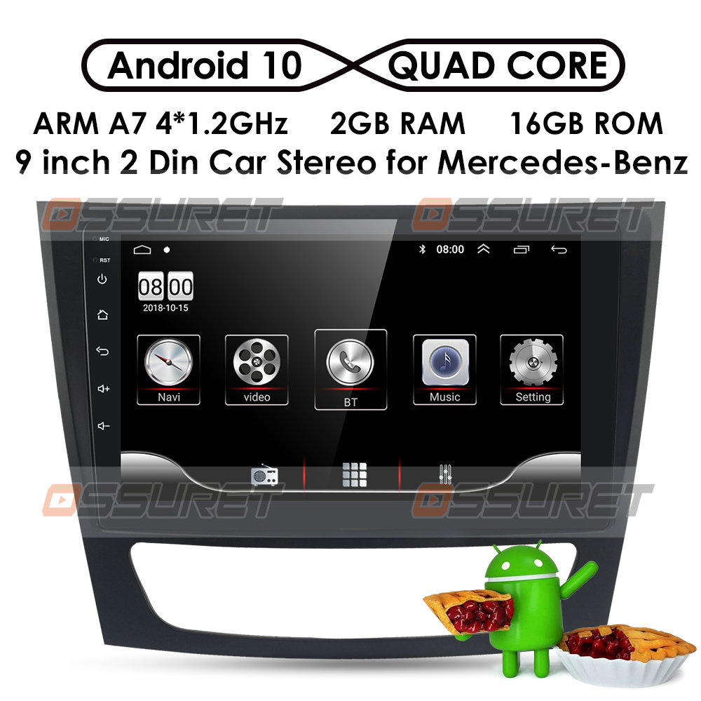 2G+32GB Android 10 Car <font><b>GPS</b></font> Stereo Unit Player For <font><b>Mercedes</b></font> Benz E-Class <font><b>W211</b></font>/CLS W219/CLK W209/G-Class W463 Multimedia autoradio image